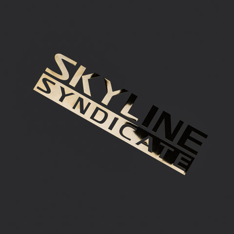 Skyline Syndicate<p>Metal Sticker<p>24K Gold Plated