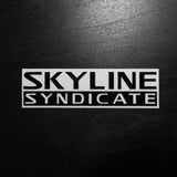 Skyline Syndicate <p> Vinyl Sticker