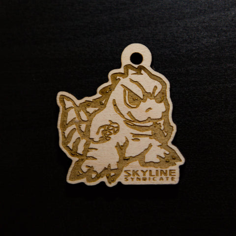 Gojira Keychain<p> Original Wood