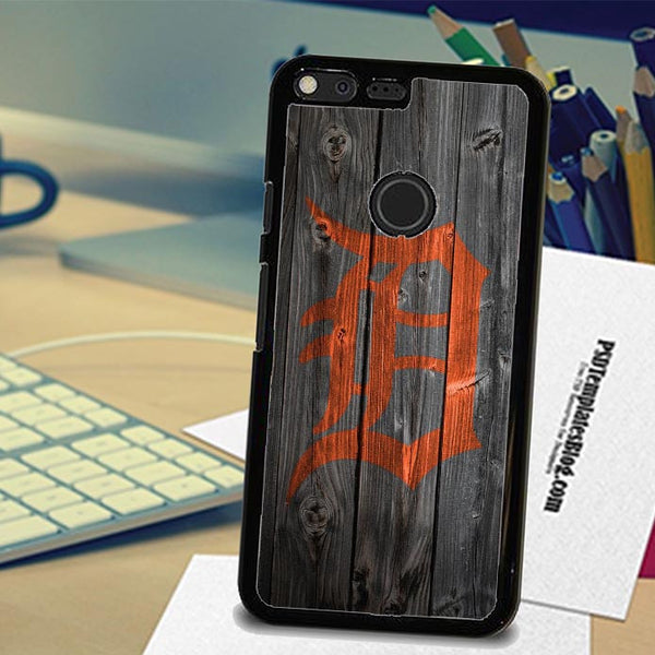Detroit Tigers Logo Wood Google Pixel,Pixel XL