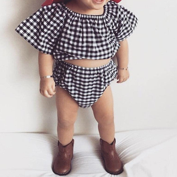 Indie Buffalo Check Baby Girl Two Piece