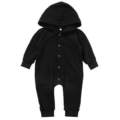 Bear Hooded Baby Boy Jumpsuit