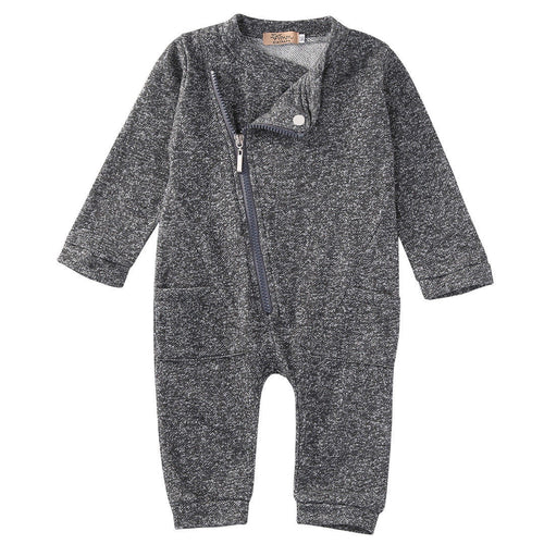 Denver Grey Baby Boy Jumpsuit