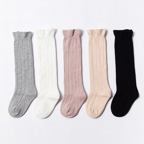 Spring Cable Knit Knee High Socks