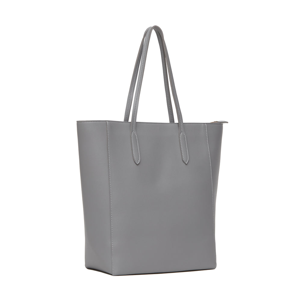 Giona Zippered Tote Gray