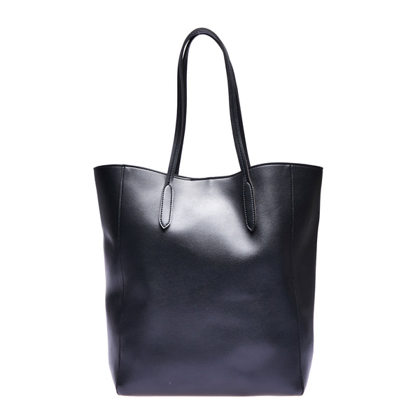 Giona Zippered Tote Black