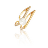 Dome Pearl Ring Gold