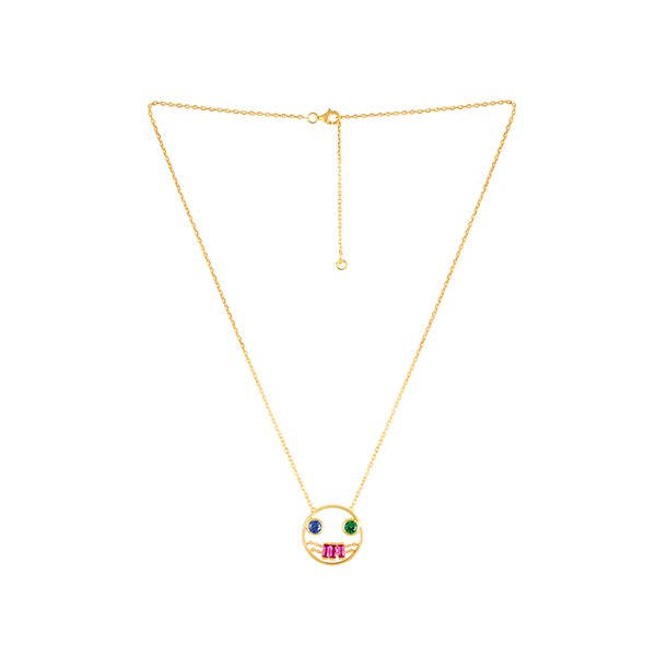 Clown Crystal Necklace