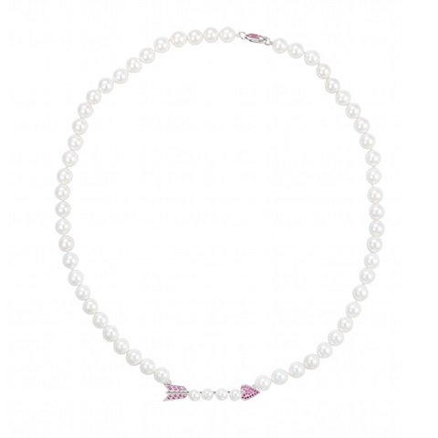 Cupid's Arrow Pearl Necklace