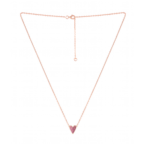 Cupid's Arrow Heart Necklace