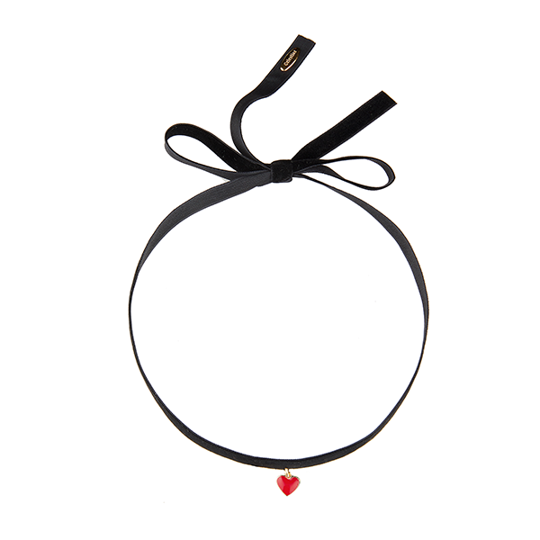 Heart Choker Black-GOLD