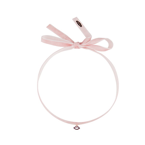 Little kiss Choker Pink-ROSE GOLD