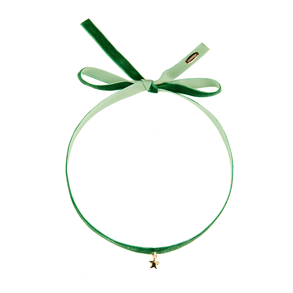 Little Star Choker Green-GOLD