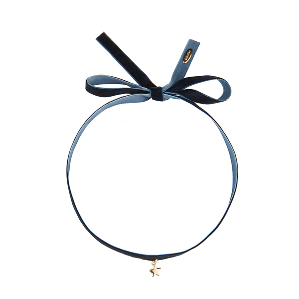 Little Star Choker Navy-GOLD
