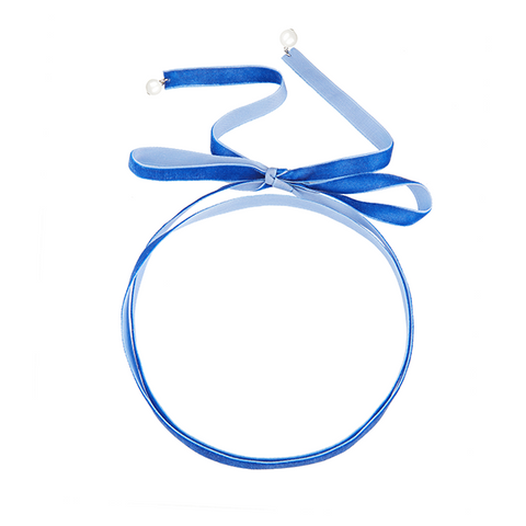 Loose end Choker Blue-SILVER