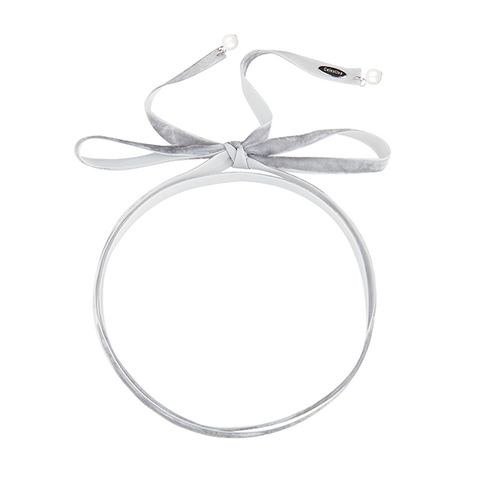 Loose end Choker Grey-SILVER
