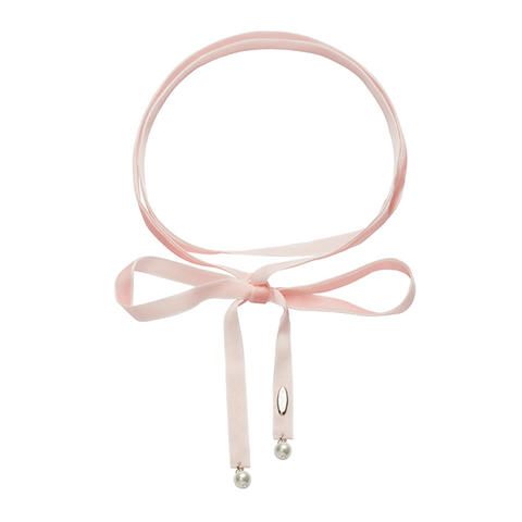 Loose end Choker Pink-SILVER