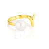 Open Letter Pearl Ring Y