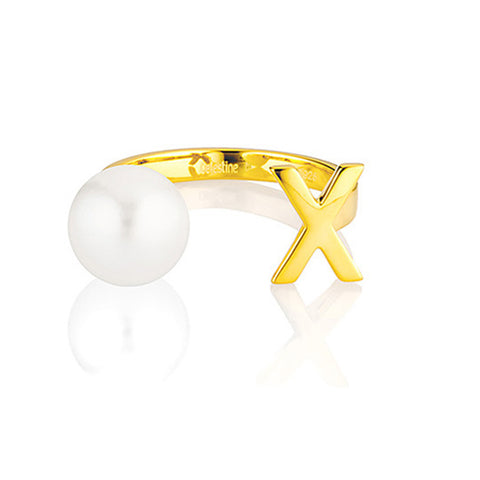 Open Letter Pearl Ring X