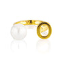 Open Letter Pearl Ring O