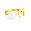 Open Letter Pearl Ring M