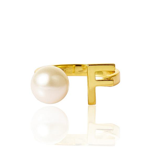 Open Letter Pearl Ring F