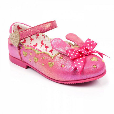 Bunny Pink Irregular Choice Childrens pumps