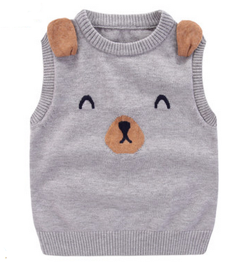 Teddy Bear Vest Grey