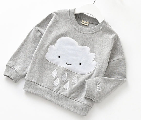 Happy Little Rain Cloud Grey Top