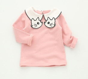 Pretty Kitty Cat Collared Top Pink 5-6 Years