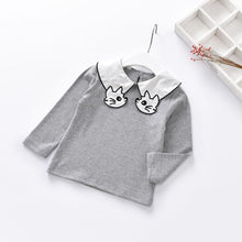 Pretty Kitty Cat Collared Top Grey 5-6 Years