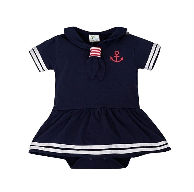 Nautical Romper with skirt