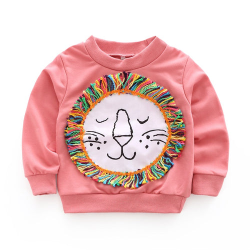 Rainbow Roar Pink Lion Sweater