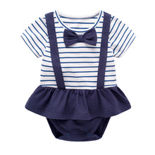 Bow Tie Stripe Bodysuit with skirt