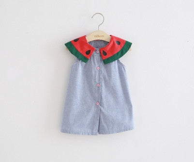 Watermelon Slice Collar Dress 5-6 Years