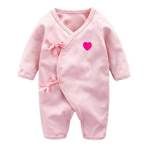 Pink Heart Ribbon Sleepsuit
