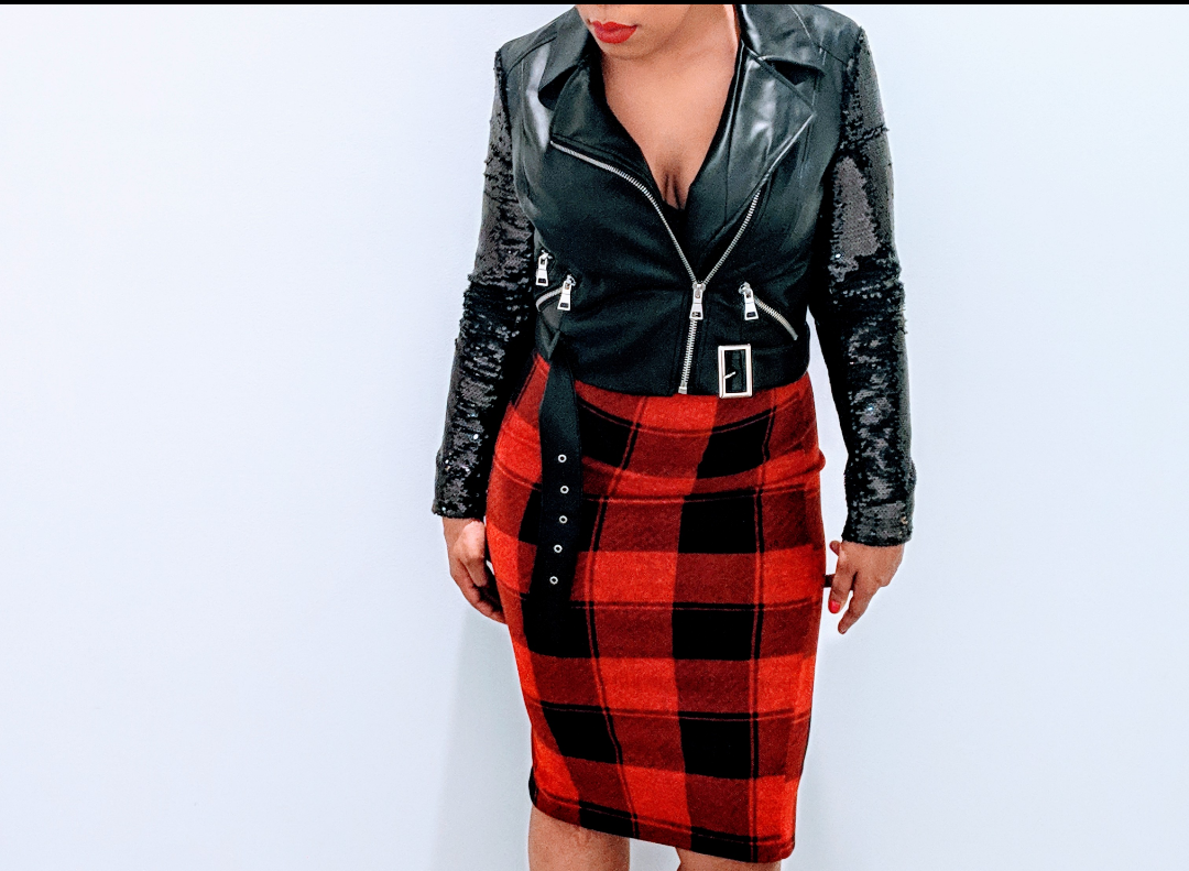 The little plaid skirt