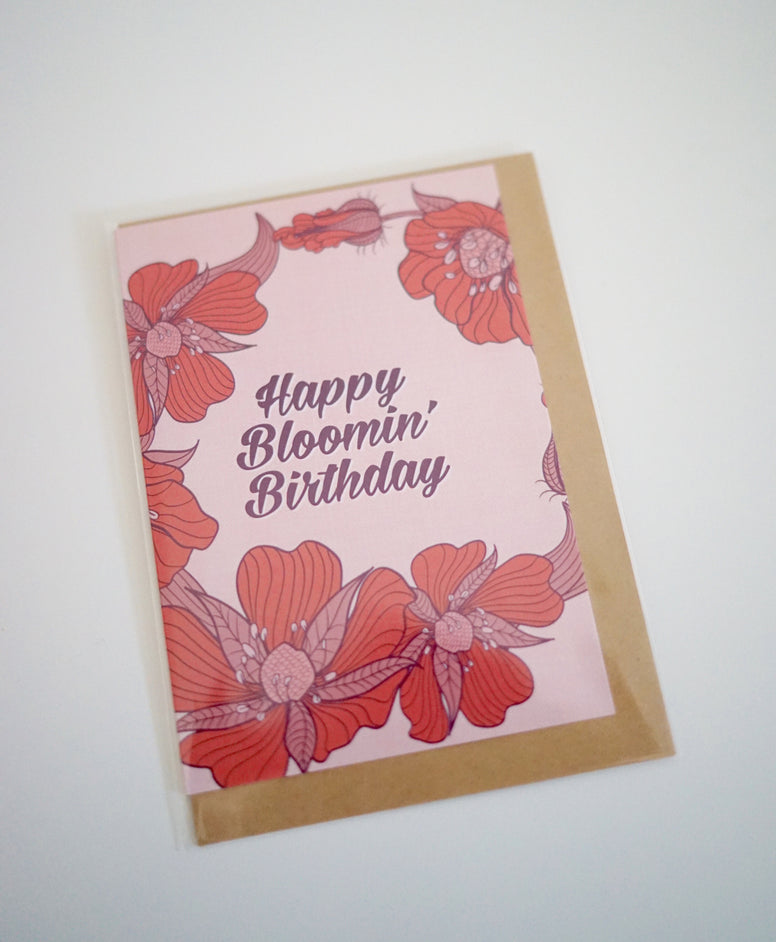 Happy Bloomin Birthday Card