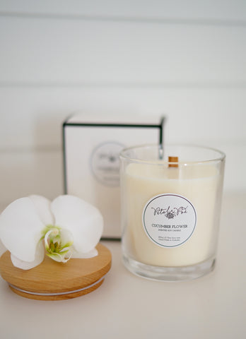 Petal and Pod Signature Candle - Cucumber Flower SOLD OUT