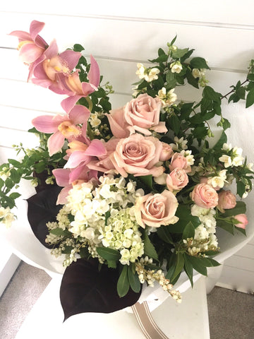 Large wrapped arrangement