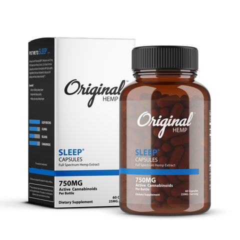 Original Hemp - CBD Capsules - Full Spectrum 750mg (SLEEP)