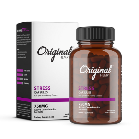 Original Hemp - CBD Capsules - Full Spectrum 750mg (STRESS)