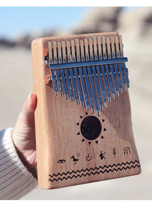TODO Mahogany Wood Nile Design Kalimba