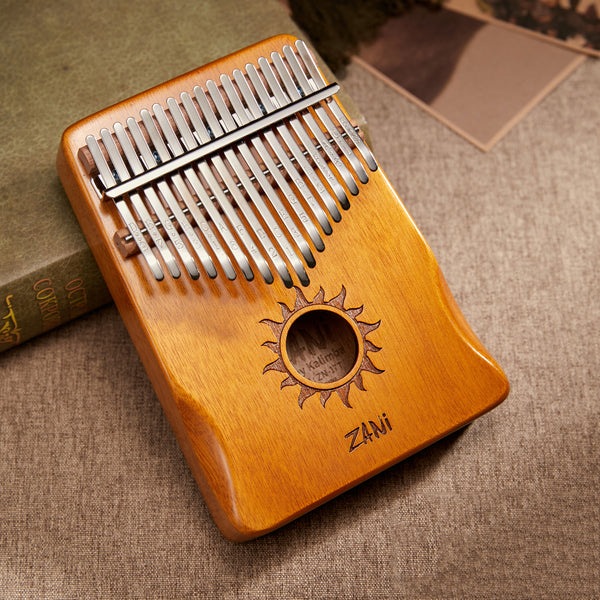 Zani Sun Wood 17 keys Full Solid Mahogany Wood Kalimba