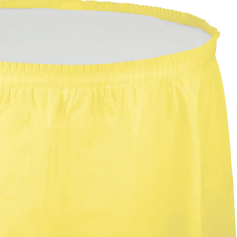 "Yellow Bulk Party Tableskirts, 14' x 29"" (6/Case)-Solid Color Party Tableware-Creative Converting-6-"