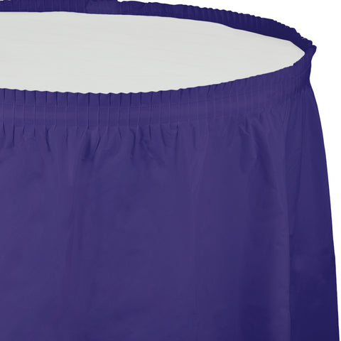 "Purple Bulk Party Tableskirts, 14' x 29"" (6/Case)"