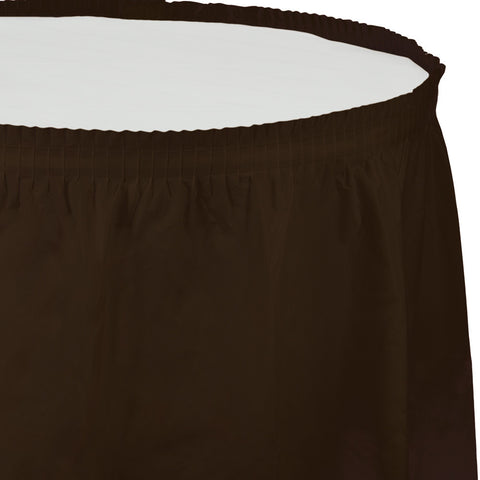 "Brown Bulk Party Tableskirts, 14' x 29"" (6/Case)"