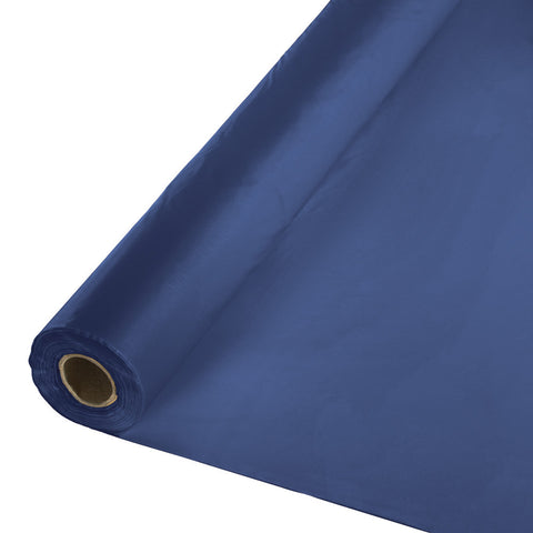 "Navy Blue Bulk Party Plastic Tablecloth Rolls 40"" x 100' (1/Case)-Solid Color Party Tableware-Creative Converting-1-"