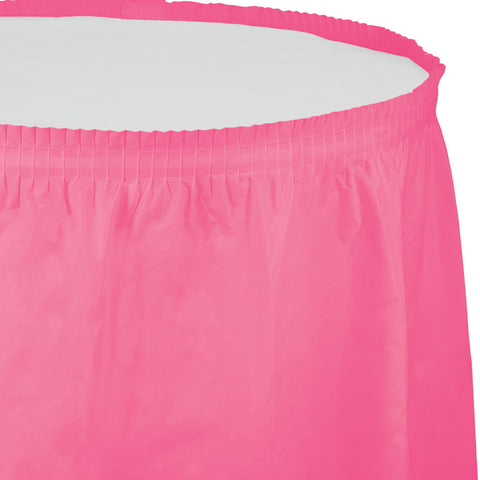 "Candy Pink Bulk Party Tableskirts, 14' x 29"" (6/Case)"