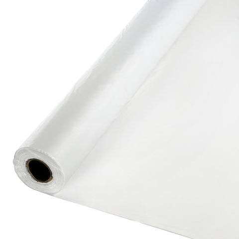 "Clear Bulk Party Plastic Tablecloth Rolls 40"" x 100' (1/Case)"